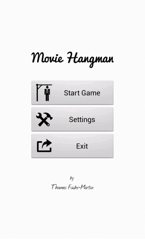movie hangman free start screen